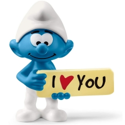 The Smurfs Schleich® Figure - Smurf with I Love You sign (20823)
