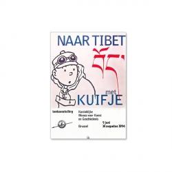 Cartel de la exposición de Bruselas de Tintín Naar Tibet 1994 24033 (50x70cm)