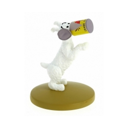 Collectible figurine Tintin, Snowy with the crab tin 6cm + Booklet Nº19 (2012)
