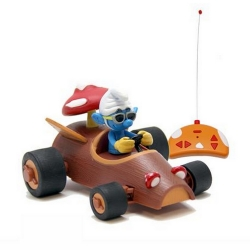 Coche a control remoto Puppy RC Kart Los Pitufos (Pitufo y vehículo champiñón)