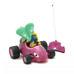 Remote controlled car Puppy RC Kart The Smurfs (Smurfette in his convertible)