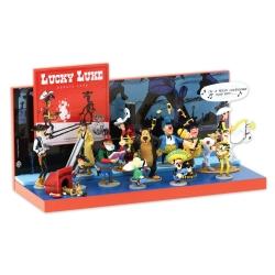 13 figurines de collection Pixi Lucky Luke Origine I + Présentoir (2020)