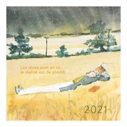 2021 Desktop Calendar Corto Maltese 13,5x13,5cm (24448)