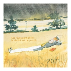 Calendario de sobremesa 2021 Corto Maltés 13,5x13,5cm (24448)