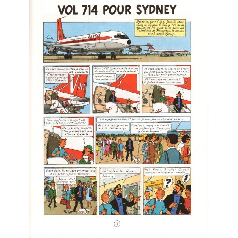 Album de Tintin: Vol 714 pour Sydney Edition fac-similé ...