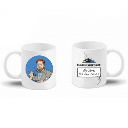 Taza mug en cerámica Blake y Mortimer (By Jove, it's tea time ! Mortimer)