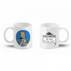 Ceramic mug Blake and Mortimer (By Jove, it's tea time ! Blake)