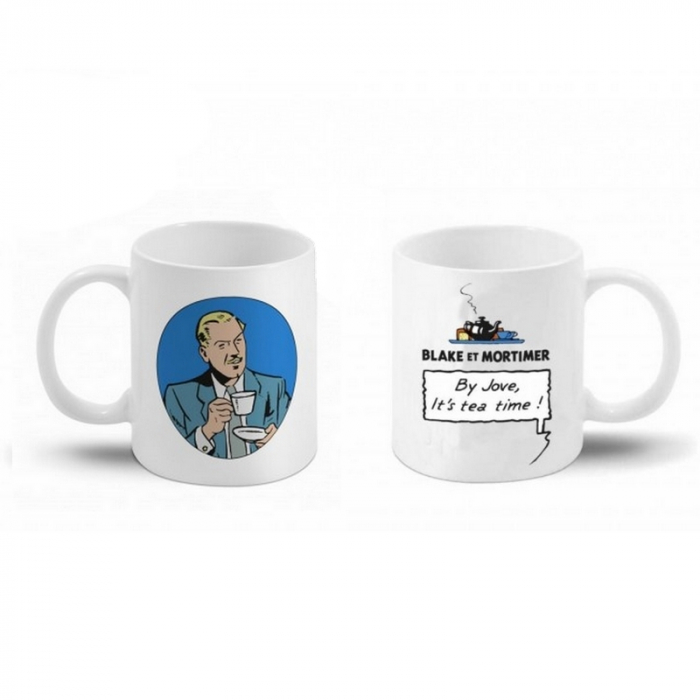 Ceramic mug Blake and Mortimer (By Jove, it's tea time ! Blake)