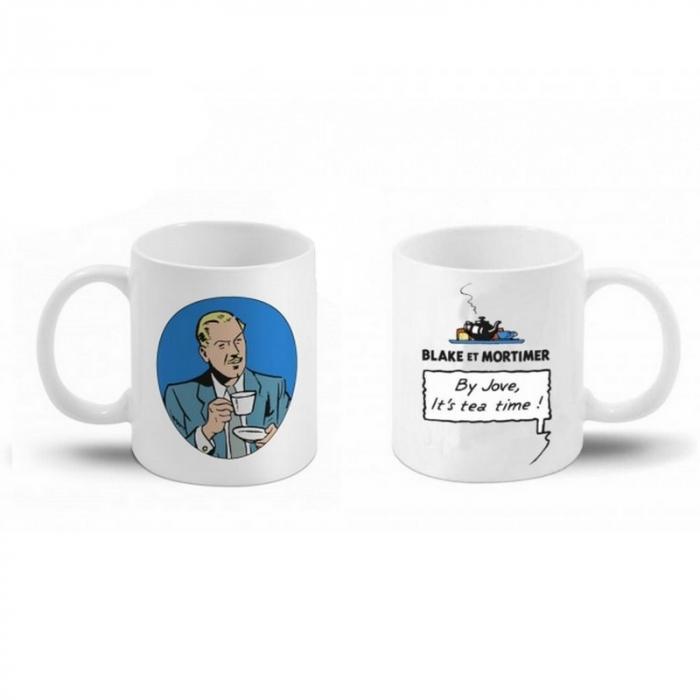 Taza mug en cerámica Blake y Mortimer (By Jove, it's tea time ! Blake)