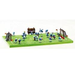 Saynète de collection Pixi Les Schtroumpfs, la partie de football 6475 (2020)