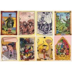 Set de 8 postales Les Grands Ancêtres, homenaje de A. Floc'h (10x15cm)