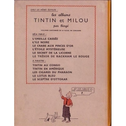 Tintin album: Le trésor de Rackham le Rouge Edition fac-similé colours 1944