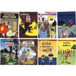 Set de 8 postales Les introuvables, homenaje de A. Floc'h (10x15cm)