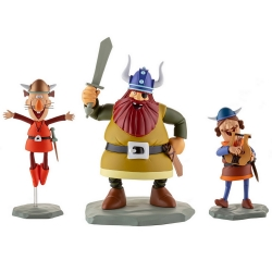 Figurines de collection LMZ Wickie le Viking: Halvar, Gorm et Hulme Nº2 (2020)
