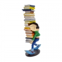 Collection Figurine Plastoy: Gaston Lagaffe with a stack of books (00300)