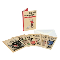 Set de 16 Cartes postales Tintin, Le Petit Vingtième (10x15cm)