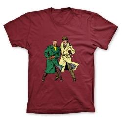 Camiseta 100% algodón Francis Percy Blake y Philip Mortimer Duo (Burdeos)
