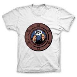 Camiseta 100% algodón Francis Percy Blake y Philip Mortimer HO ! (Blanco)