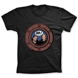 Camiseta 100% algodón Francis Percy Blake y Philip Mortimer HO ! (Negro)