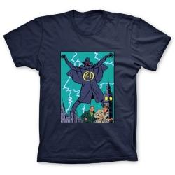 Camiseta 100% algodón Blake y Mortimer, La Marca Amarilla 1953 (Azul)