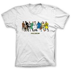 Camiseta 100% algodón Blake y Mortimer, los personajes (Blanco)