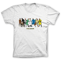 T-shirt 100% cotton Blake and Mortimer, characters (White)