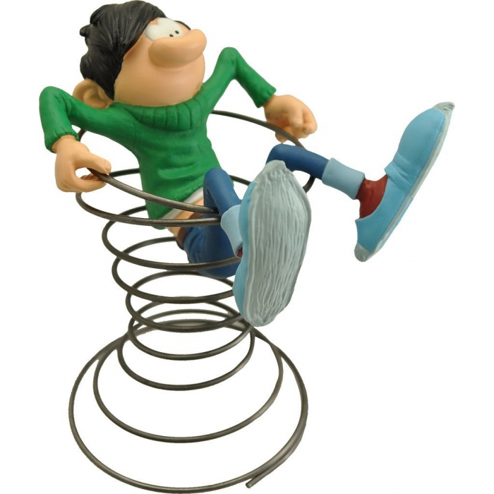 Collection Figurine Plastoy: Gaston Lagaffe with his spring (00310)
