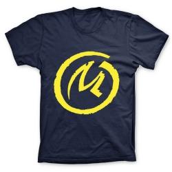 Camiseta 100% algodón Blake y Mortimer, Logo de La Marca Amarilla (Azul)