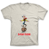 T-shirt 100% cotton Lucky Luke, balancing in a barrel (Sand)