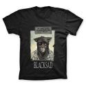 T-shirt 100% cotton John Blacksad, le matin...  (Black)