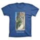 T-shirt 100% cotton John Blacksad, the pursuit (Blue)