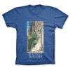 Camiseta 100% algodón John Blacksad, la persecución (Azul)
