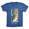 T-shirt 100% coton John Blacksad, la poursuite (Bleu)