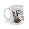Ceramic mug Lucky Luke, Ma Dalton knitting (Home Sweet Home)