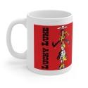 Ceramic mug Lucky Luke (jumping in Jolly Jumper)