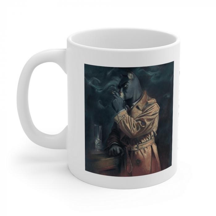 Ceramic mug Blacksad (Smoking John Portrait)