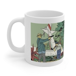 Ceramic mug Blake and Mortimer (Valley of the Immortals T2, the crash)