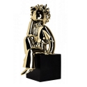 Collectible figurine Leblon-Delienne The Little Prince Thinking (Gold Chromed)