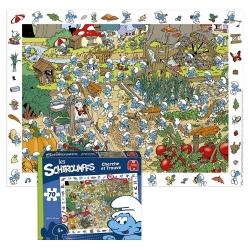 Puzzle Puppy Les Schtroumpfs Cherche et Trouve 70 Pièces (65x49cm)