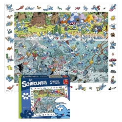 Puzzle Puppy Les Schtroumpfs Cherche et Trouve 150 Pièces (50x40cm)