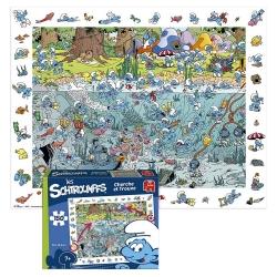 Puzzle Puppy The Smurfs Cherche et Trouve 150 pieces (50x40cm)