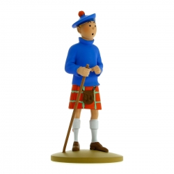 Figurine de collection Tintin en kilt 13cm Moulinsart 42192 (2015)