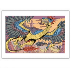 Póster cartel offset Blake y Mortimer con el dragón (35,5x28cm)