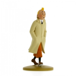 Figurine de collection Tintin marchant en trench 12cm Moulinsart 42190 (2015)