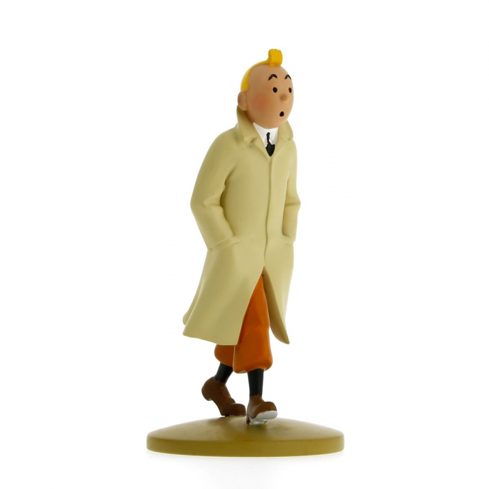 Figurine de collection Tintin en trench 12cm Moulinsart 42190 (2015)