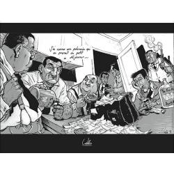 Póster cartel offset Sylvain Vallée, Les Tontons flingueurs (40x30cm)
