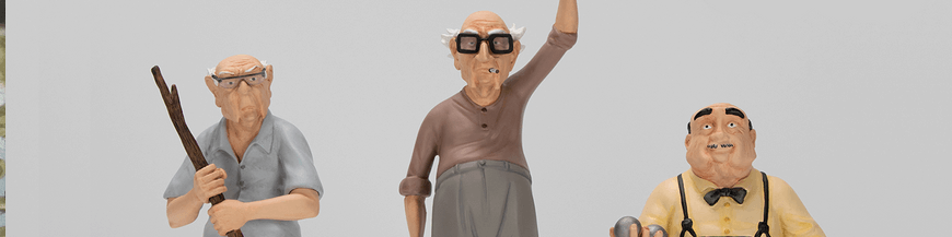 The Old Geezers comics figurines and exclusive items