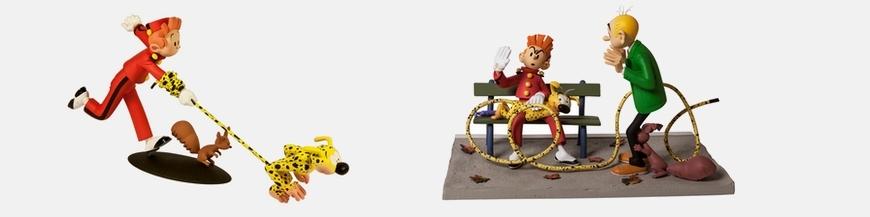 Figurines de BD Spirou et Fantasio