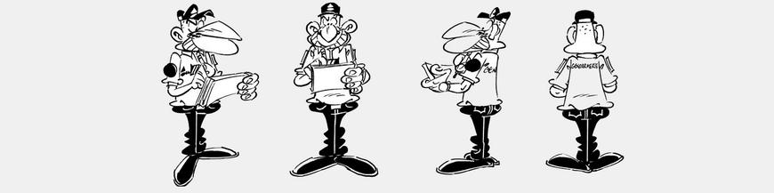 Figuras de cómics Los Gendarmes