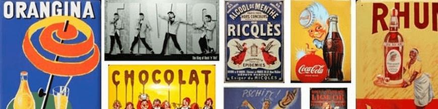 Plaques émaillées de BD de collection